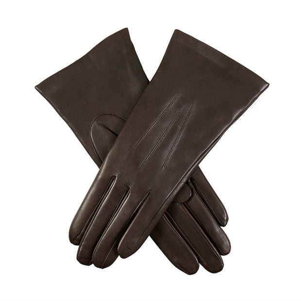 Dents Isabelle Women's Cashmere Lined Plain Hairsheep Leather Gloves - Mocca