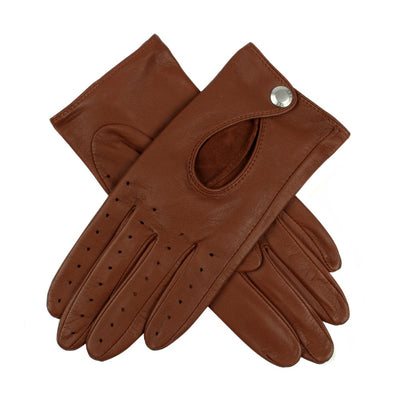 Dents Thruxton Women's Hairsheep Leather Driving Gloves - Cognac