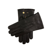 Dents Mendip Men's Wool Lined Leather Officer Gloves Black