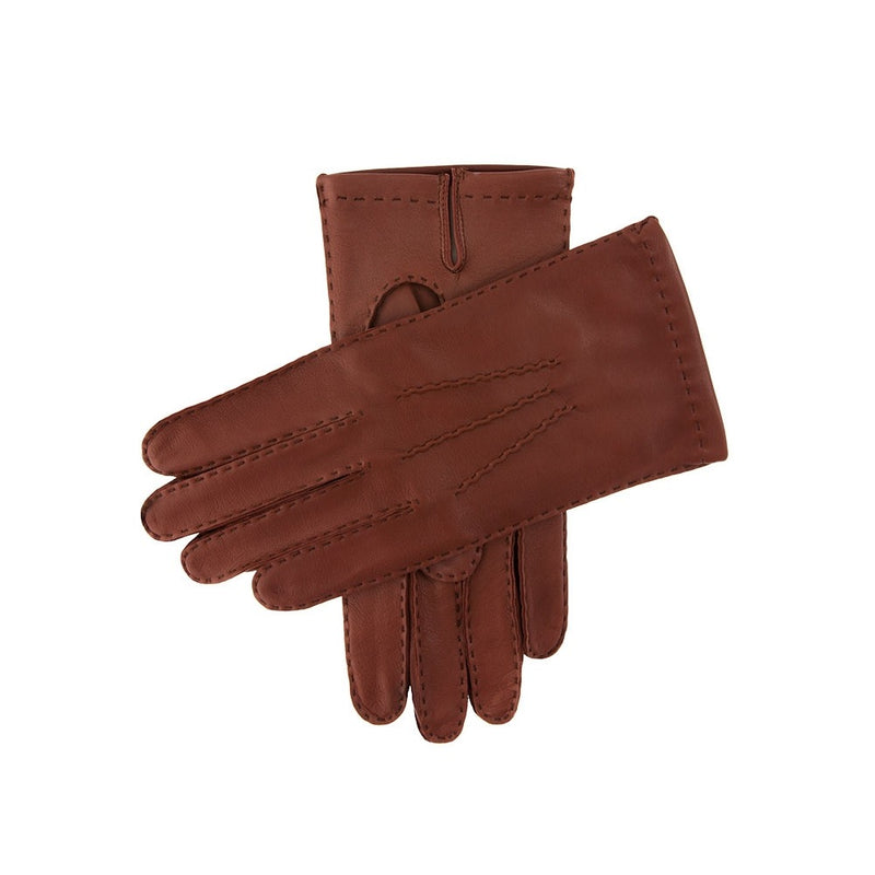 Dents Kingston Men's Silk Lined Leather Gloves English Tan