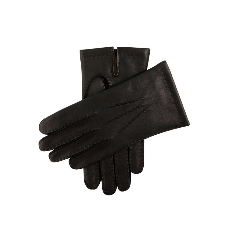 Dents Chelsea Men's Cashmere Lined Leather Gloves Black
