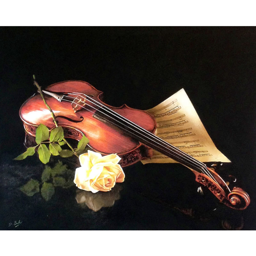 "Darren Baker ""Violin Love"" Limited Edition of 50 Prints Signed and Mounted with Certificate of Authenticity by Burton Blake"