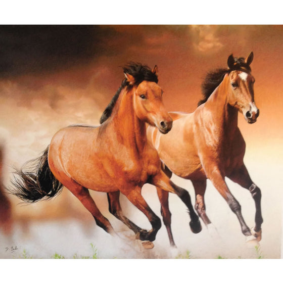 "Darren Baker ""Wild Horses"" Limited Edition of 50 Prints Signed and Mounted with Certificate of Authenticity by Burton Blake"