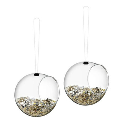 Eva Solo Set of 2 Mini Glass Hanging Bird Feeders