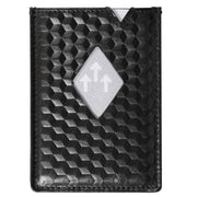 Exentri Wallets Leather RFID-Blocking CITY Card Wallet Black Cube