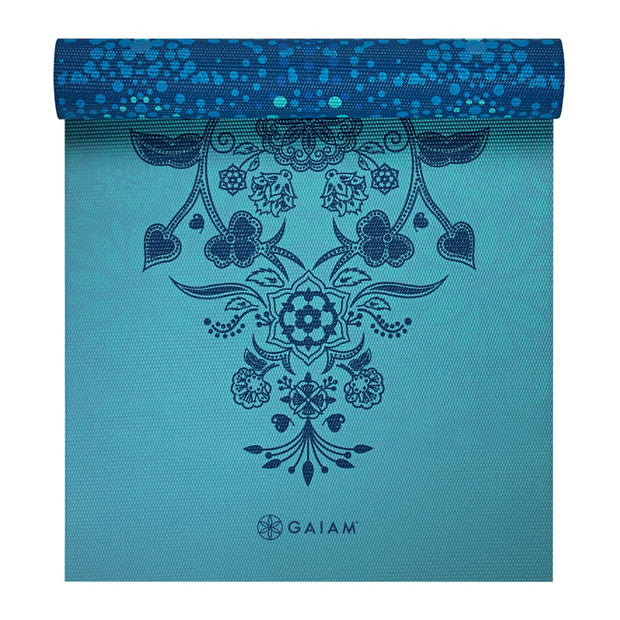 Gaiam Reversible Yoga Mat 6mm Mystic Sky