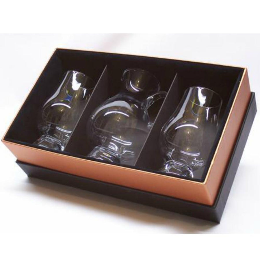 Glencairn Crystal 2 Whiskey Glasses with Water Jug in Presentation Gift Box by Burton Blake