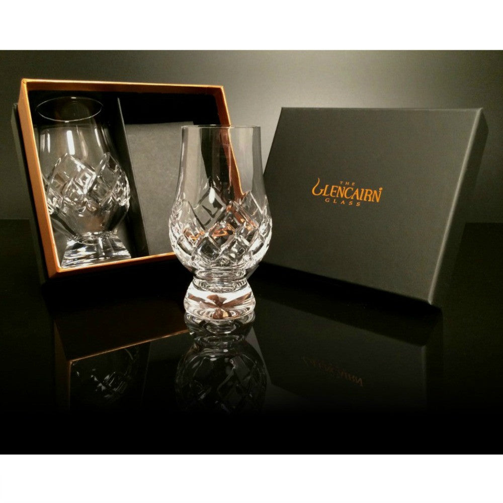 Glencairn Cut Crystal 2 Whiskey Tasting Glasses by Burton Blake