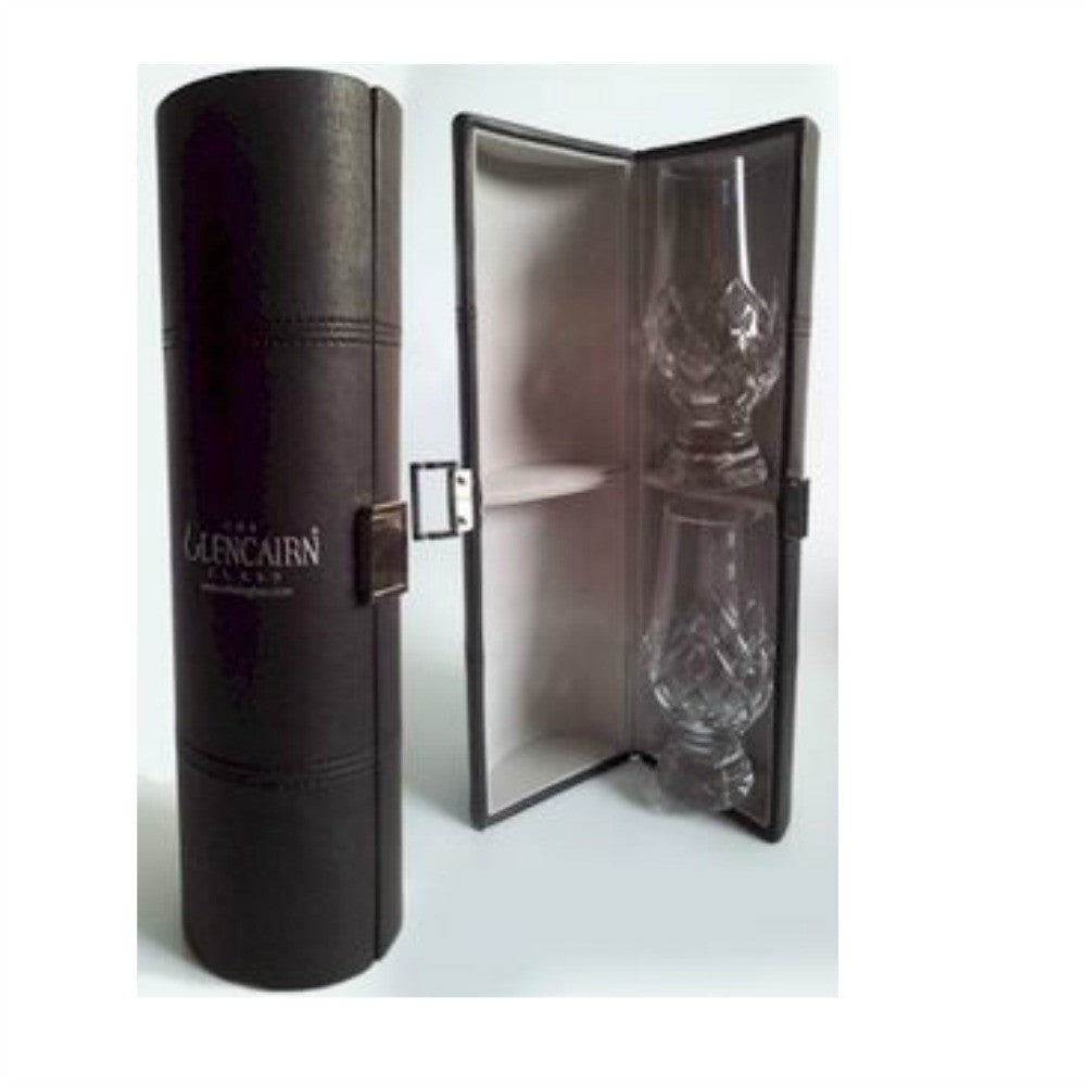 Glencairn Cut Crystal 2 Whiskey Glasses in Travel Presentation Box by Burton Blake