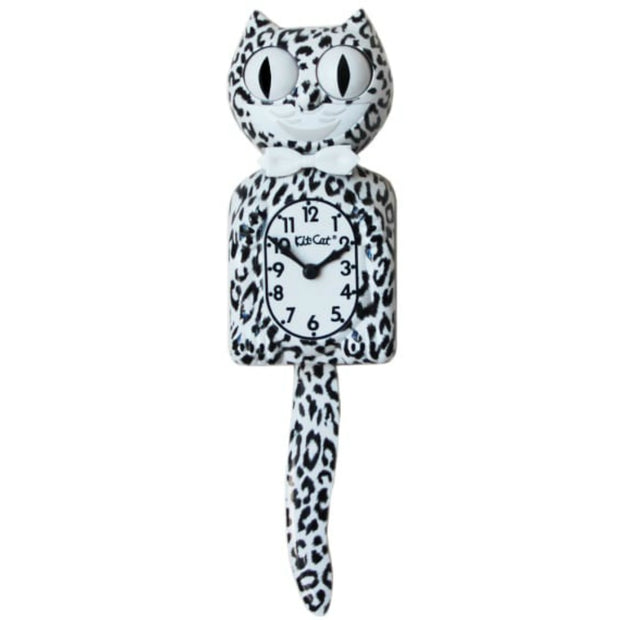 Kit-Cat Klock Snow Leopard Wall Clock