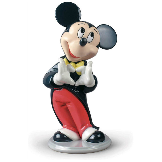 Lladró Mickey Mouse Porcelain Figurine