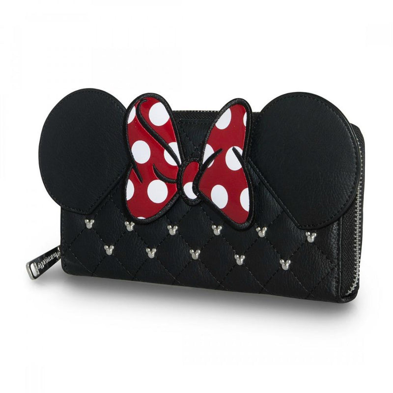 Loungefly Minnie Mouse Bow Zip Around Wallet