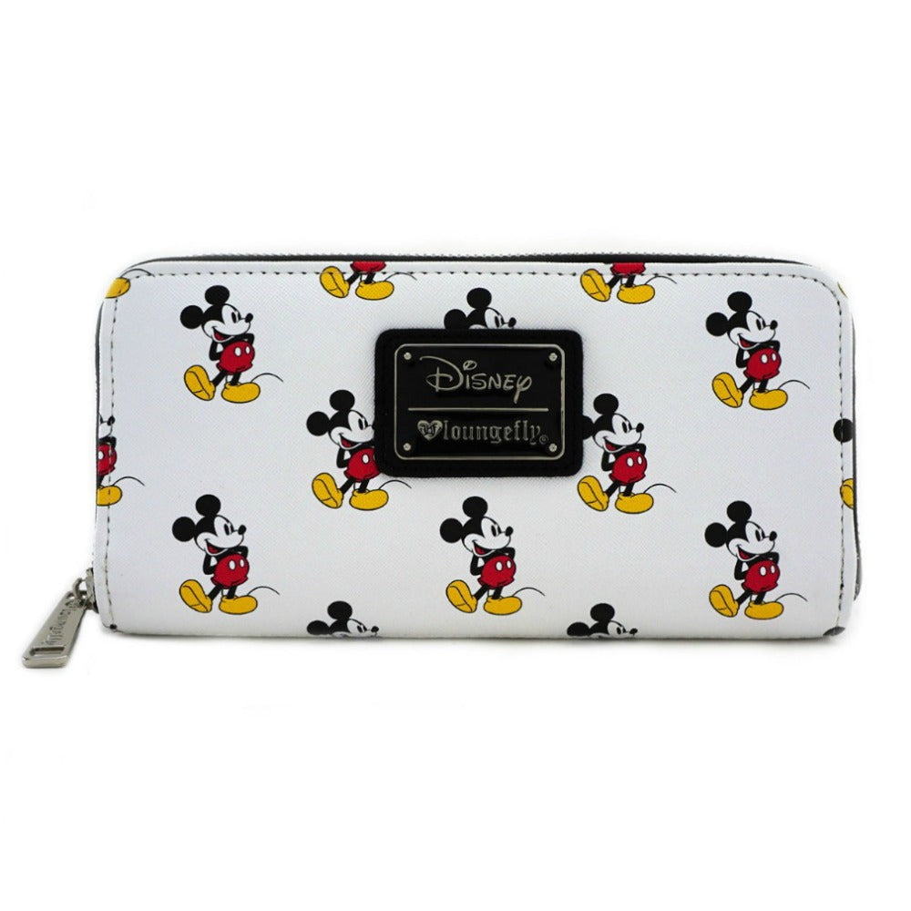 Loungefly Mickey Mouse AOP Zip Around Wallet