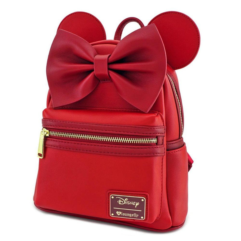 Loungefly Minnie Mouse Ears and Bow Mini Backpack Red