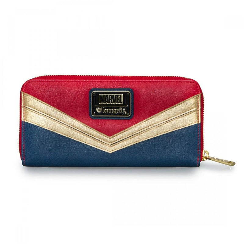 Loungefly Captain Marvel Zip Around Wallet