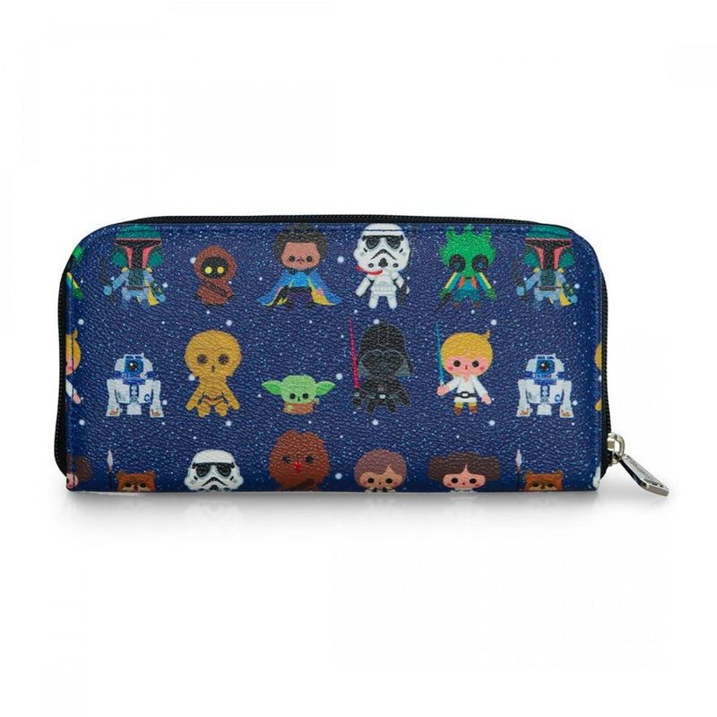 Loungefly Star Wars Cutesy Characters AOP Zip Around Wallet
