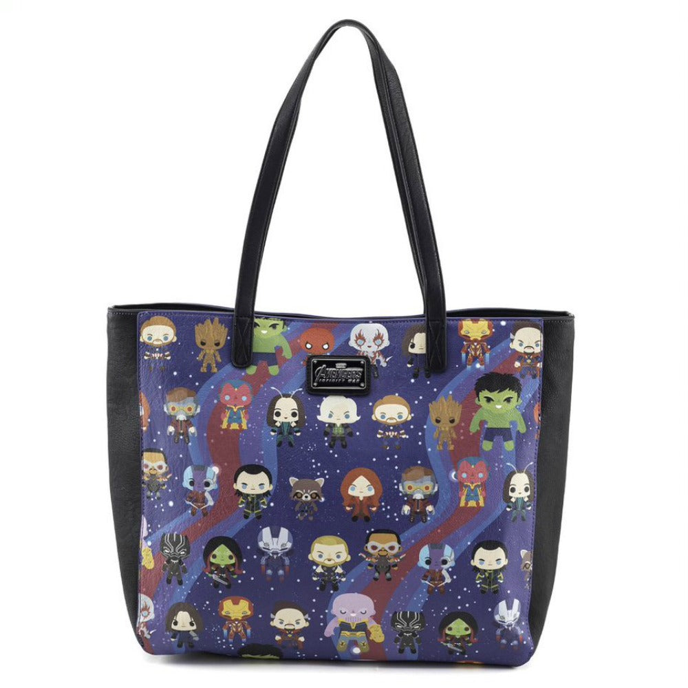 Loungefly Marvel Avengers: Infinity War Kawaii AOP Tote Bag