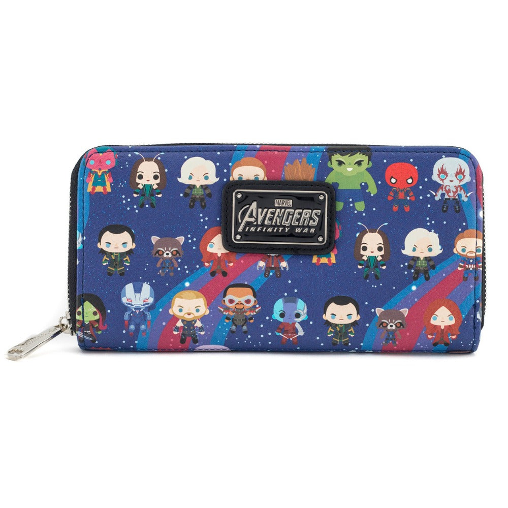 Loungefly Marvel Avengers: Infinity War Kawaii AOP Zip Around Wallet