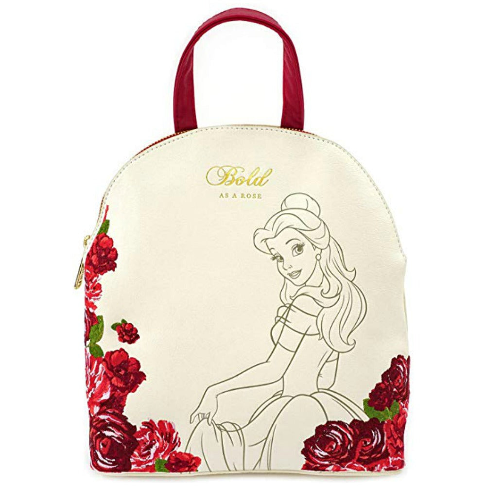 Loungefly Beauty and the Beast Belle Bold as a Rose Mini Backpack
