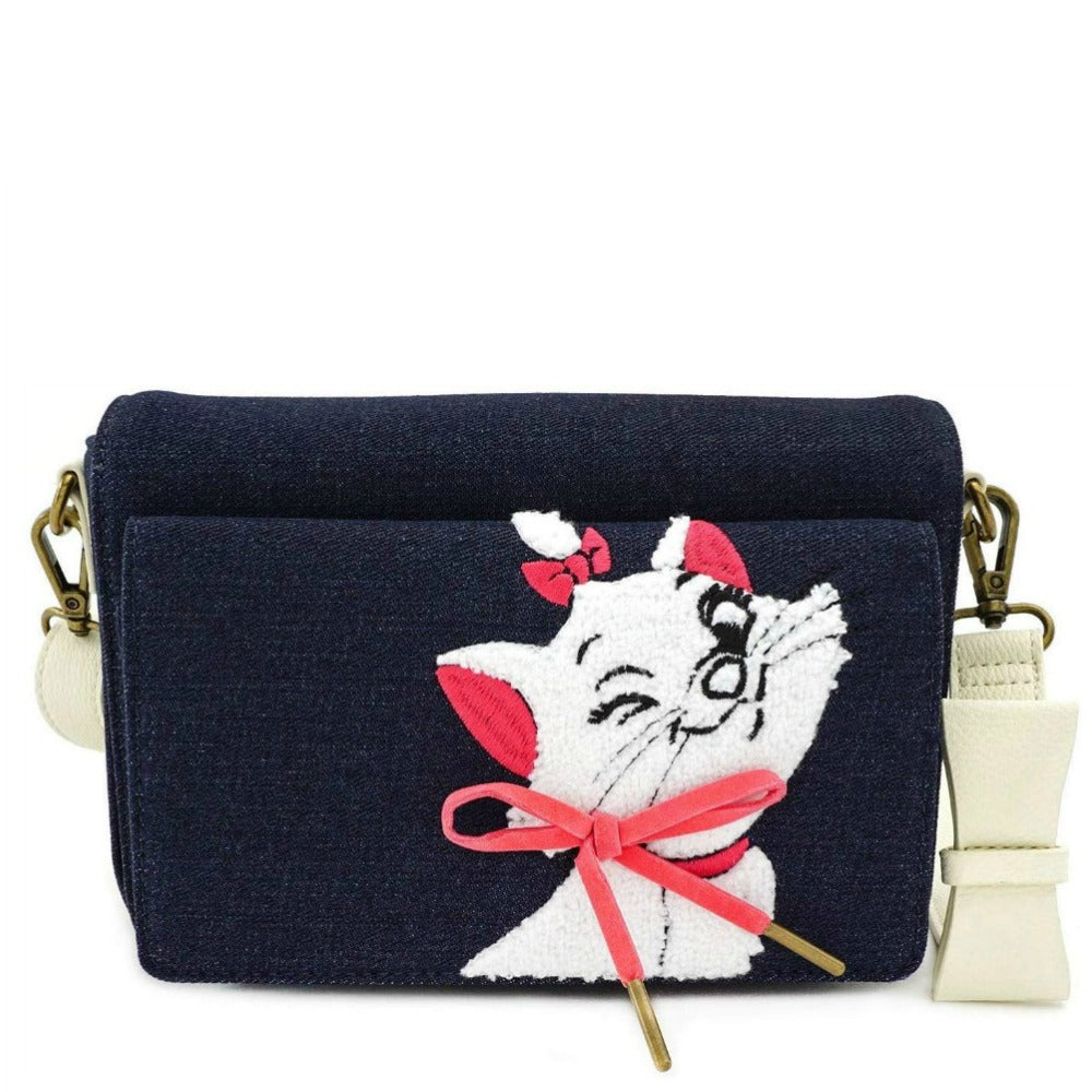 Loungefly Disney The Aristocats Marie Denim Cross Body Bag