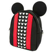 Loungefly Mickey Mouse Applique Detail Convertible Mini Backpack