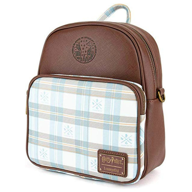 Loungefly Harry Potter Hogwarts Plaid Convertible Mini Backpack