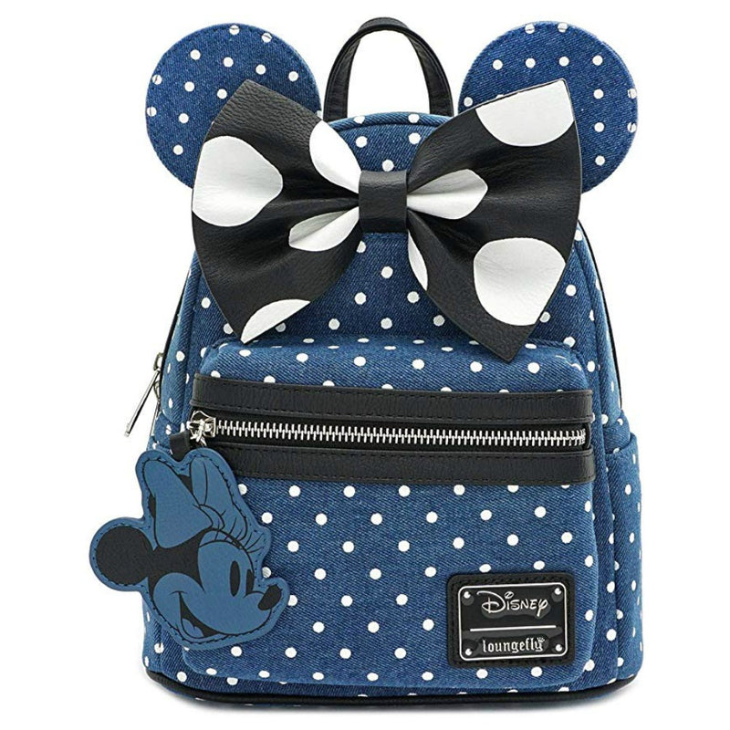 Loungefly Disney Minnie Mouse Denim Mini Backpack