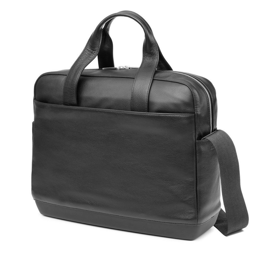 Moleskine Classic Leather Briefcase - Black