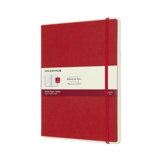 Moleskine Paper Tablet Extra Large Ruled Red
