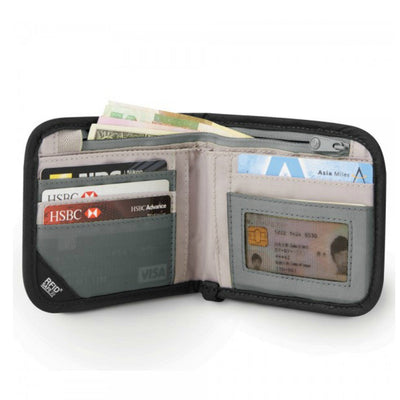 Pacsafe RFIDsafe V100 Anti-Theft RFID Blocking Wallet - Black
