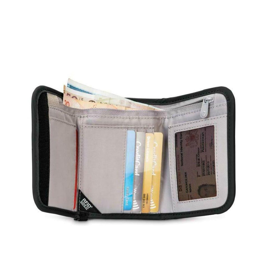 Pacsafe RFIDsafe V125 Anti-theft RFID Tri-fold Wallet - Black