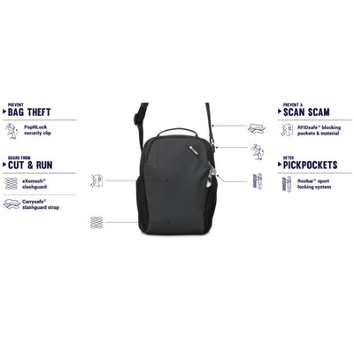Pacsafe Vibe 200 Anti-Theft Compact Travel Bag - Eclipse