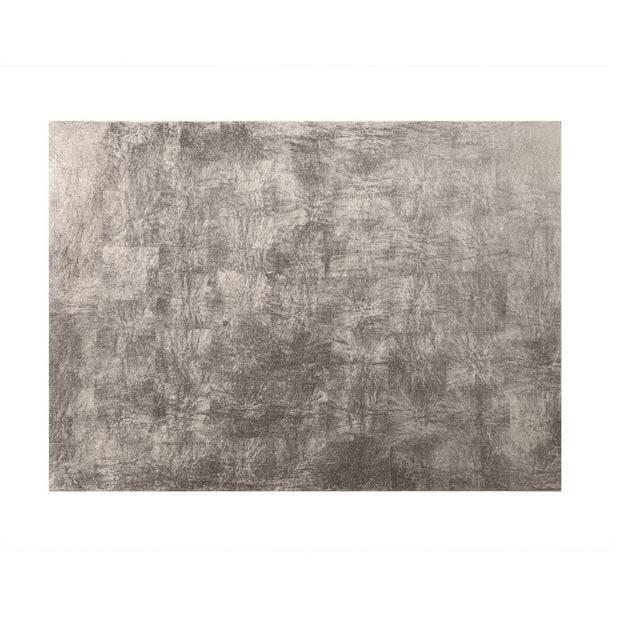Posh Trading Company Serving Mat/Grand Placemat Silver Leaf in Silver