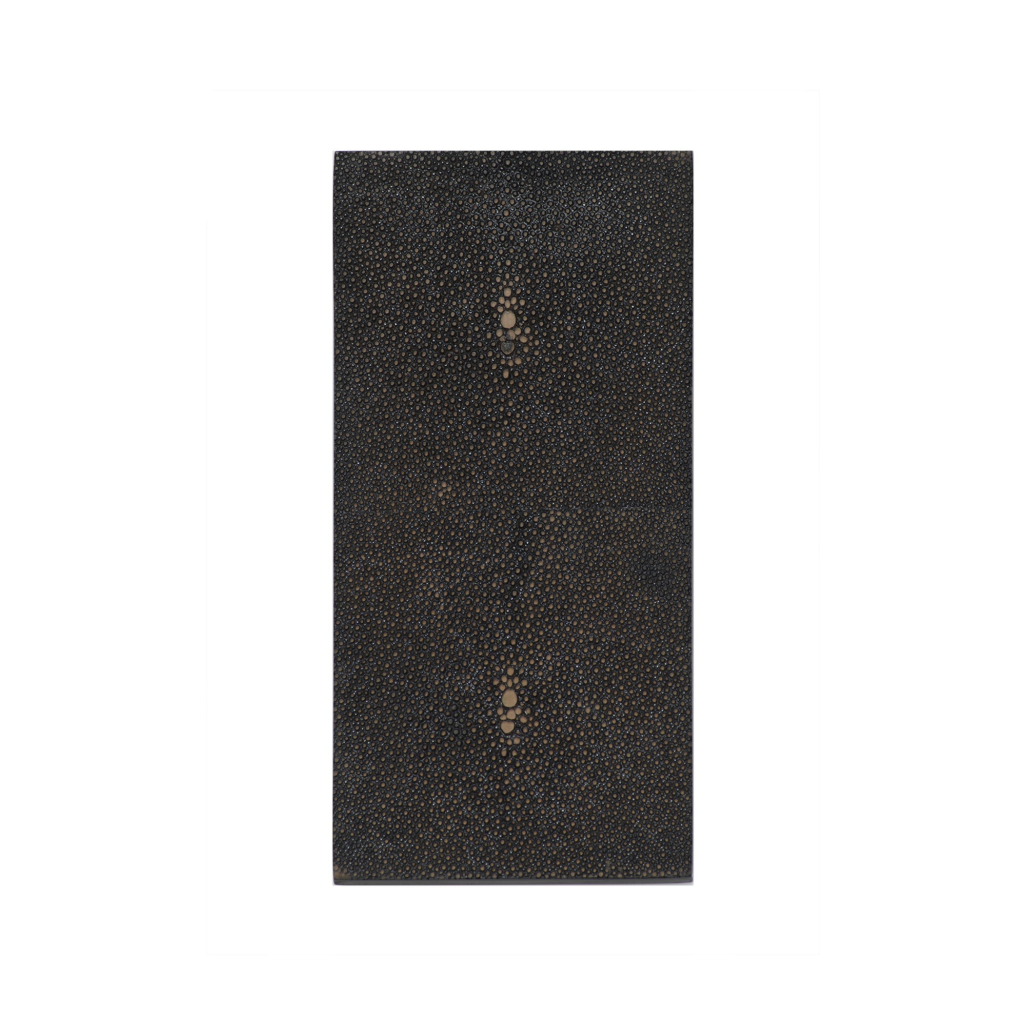 Posh Trading Company Double Coaster in Faux Shagreen Chocolate