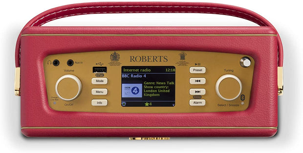 Roberts Revival iStream 3 DAB/FM Internet Smart Radio with Bluetooth (Berry Red)
