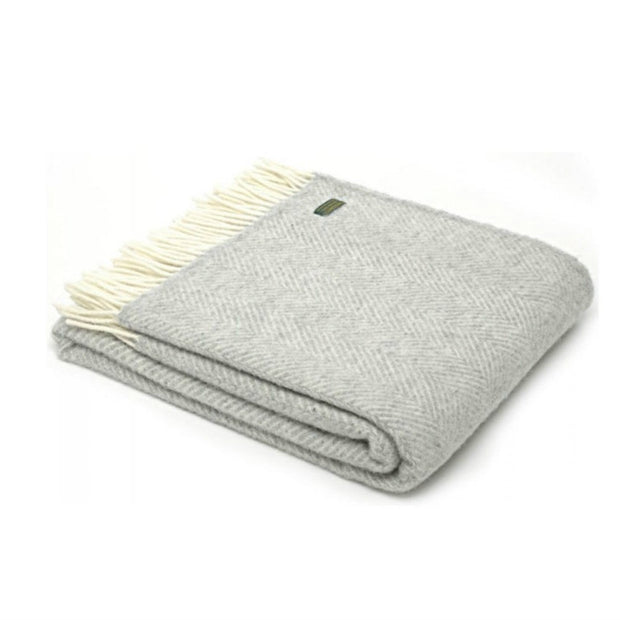 Tweedmill Lifestyle Fishbone Throw Silver Grey 150 x 183cm