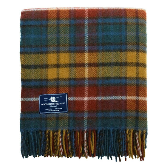 Tweedmill Jura Tartan Knee Rug Pure Natural Wool Antique Buchanan 70 x183cm