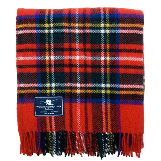 Tweedmill Jura Tartan Knee Rug Pure Natural Wool Royal Stewart 70 x 183cm