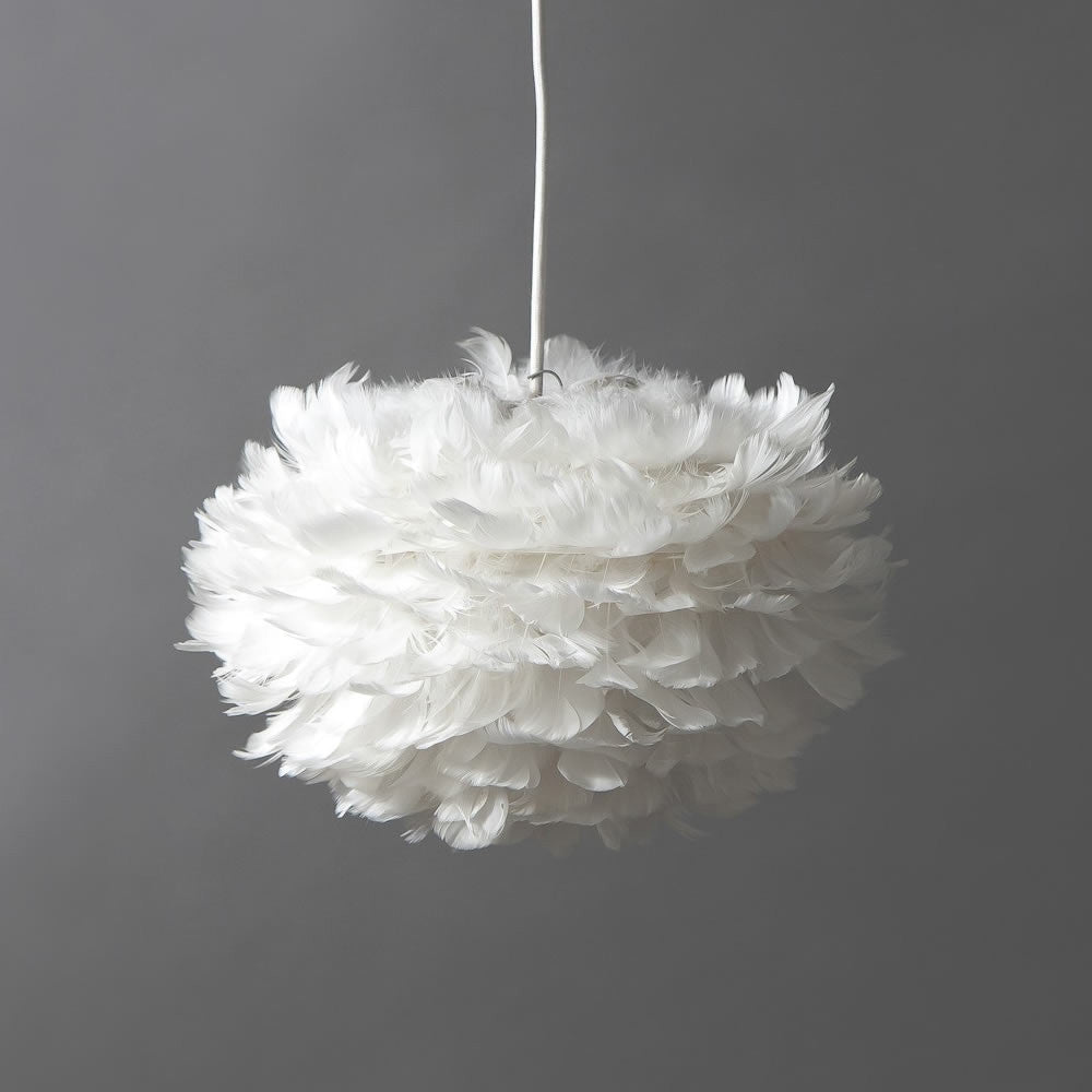 Vita Copenhagen Eos Feather Ceiling Pendant / Lamp Shade Mini 35 x 20cm - White by Burton Blake