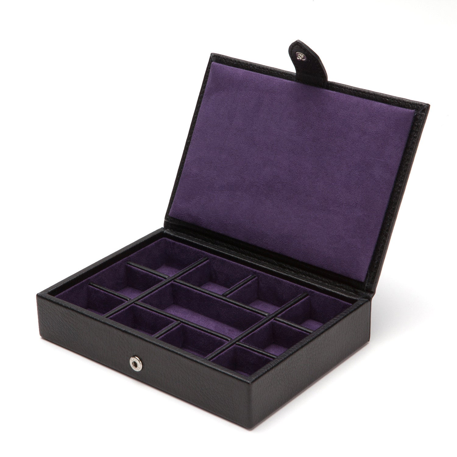 WOLF Blake Cufflink Box - Black Pebble by Burton Blake