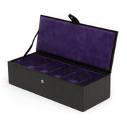 WOLF Blake 5pc Watch Box - Black Pebble by Burton Blake
