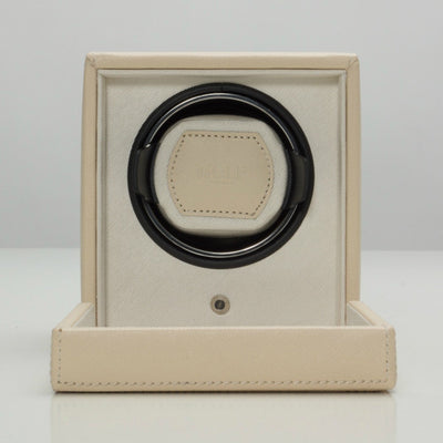 Wolf 461153 Cub Single Watch Winder with Cover - Cream