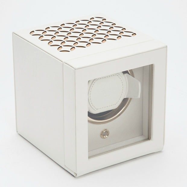 Wolf 301853 Chloe Single Watch Winder with Cover - Cream
