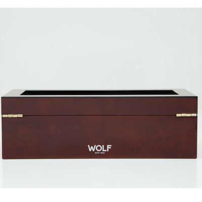 Wolf 461510 Savoy 5 Piece Watch Box Burlwood