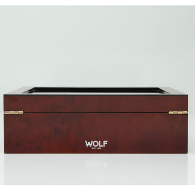 Wolf 461610 Savoy 10 Piece Watch Box Burlwood