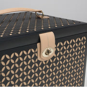 Wolf 301502 Chloe Large Jewellery Box with Travel Case Black