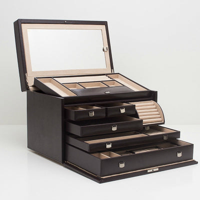Wolf 315006 London Large Jewellery Box Cocoa