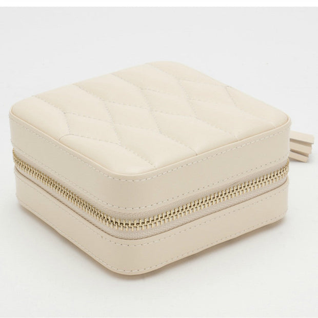 Wolf 329953 Caroline Zip Travel Jewellery Case Ivory
