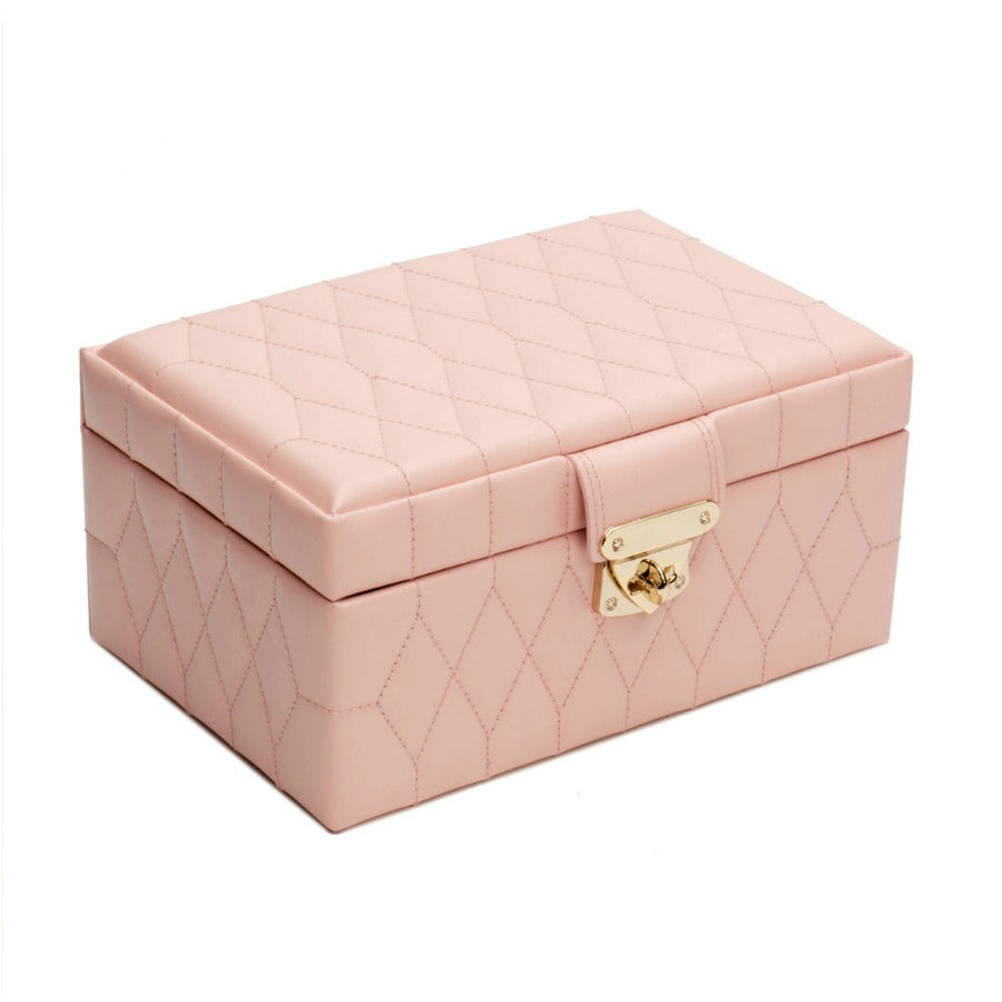 Wolf Caroline Small Jewellery Case - Rose Quartz
