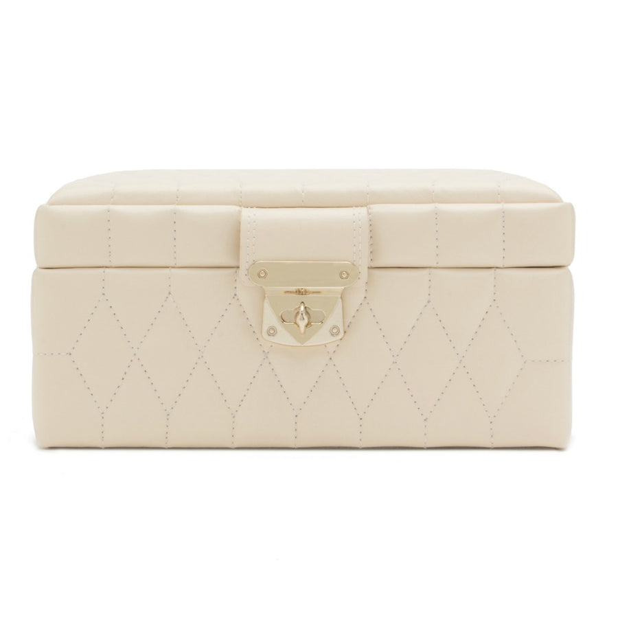 Wolf Caroline Small Jewellery Case - Ivory